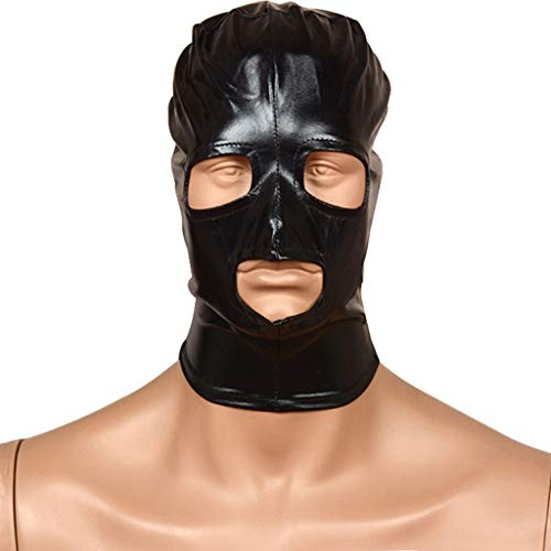 ZZDD FlExyh Komfortable Kopfbedeckung Atmungsaktiv Hohlzipp Schwarzes Maskenpaar Rollenspiel Requisiten Jeans Sunglasses Raincoat