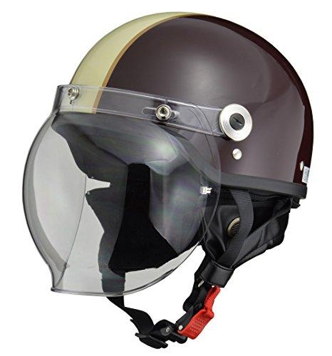 LEAD, Jet CROSS Bike Helmet, CR - 760, Bubble Shield, Half Helmet, Free Size 22.4 – 23.6 inches (57 – 60 cm)
