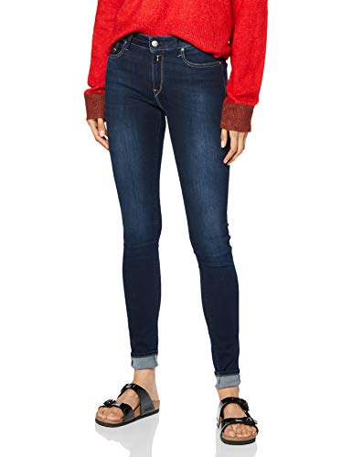 REPLAY New Luz Jeans, Dark Blue 007, 24W / 30L Donna