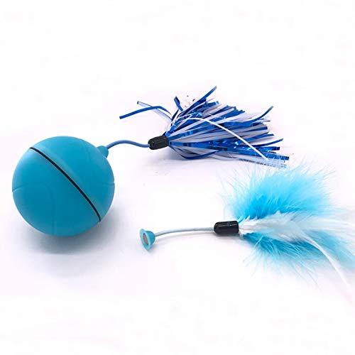 Cosye Pelota rodante eléctrica para Mascotas, Juguete para Perros, Pelota rodante USB Recargable, Bola de Salto con Flash LED, Juguetes Inteligentes Luminosos para Perros