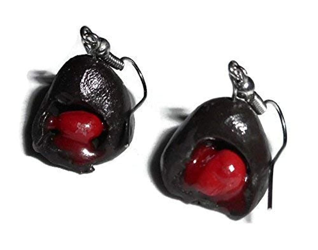 Chocolate Cordial Cherry Candy Fake Food Earrings