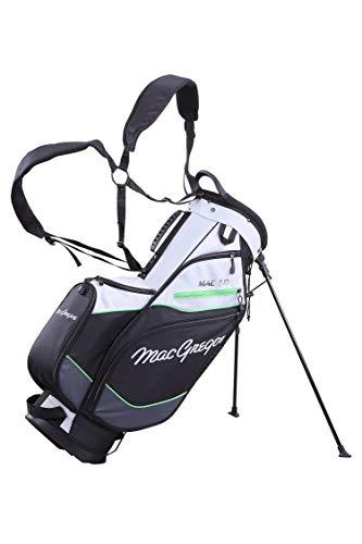 MacGregor MACTEC 7.0 - Bolsa para Palos de Golf para Hombre, Color Plateado, Negro/Verde, Talla única