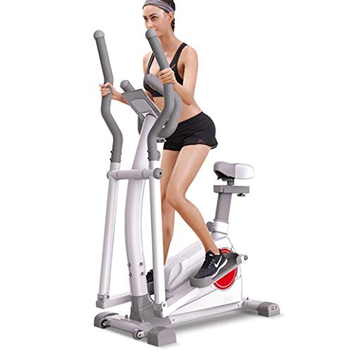 DSHUJC Ellittica Cross Traine |Step Machine per Esercizi |Volano da 10 kg - Lunghezza del Passo di 16,9'- Nessuno Slittamento Pedali Regolabili (Sportivi)