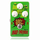 Biyany Guitar Overdrive Pedal, OD-10 Mad Driver Pedal Guitar, 3 Modes Guitar Pedal Overdrive with Ture Bypass, Baby Boom Series