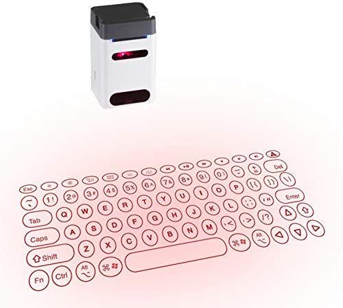 Serafim Keybo - Laser Keyboard Projector, Bluetooth Virtual Keyboard Computer Accessories Projection Keyboard for iPhone, Holographic Keyboard iPad, Infrared Mac, Laser Wireless Keyboard Android Piano