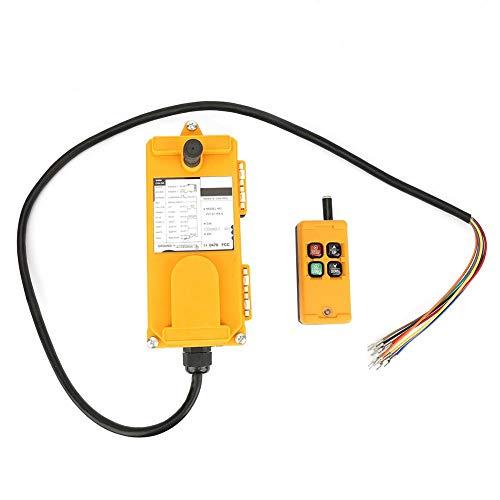 Kran-Kettenzug-Drucktastenschalter Hubsteuergerät mit Not-Aus 4 Tasten 1 Sender + 1 Empfänger