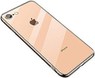 【SUMart】iPhone 7 ケース iPhone 8 ケースクリア 背面ガラスケース 黄変防止 ハイブリッドケース 全面クリア レンズ保護 ワイヤレス充電対応 すり傷防止 超軽量高耐久アイフォン7/8 スマホケース (iphone 7/8 4.7インチ)