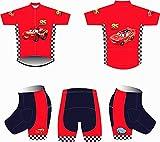 Maillot de Ciclismo para Niños Manga Corta de Dibujos Animados + Pantalones Cortos Ropa de Patinaje Niños Ropa de Bicicleta Set Ropa Deportiva Kits para niño y niña Apoyo a la personalización