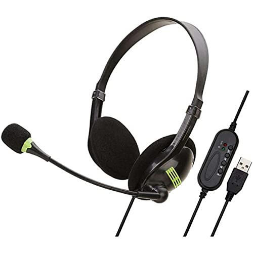KKAAMYND Auriculares de interfaz USB de ordenador duradero y práctico y conveniente con micrófono Interfaz USB Auriculares negro Este micrófono está hecho de materiales duraderos, con muy buen qu