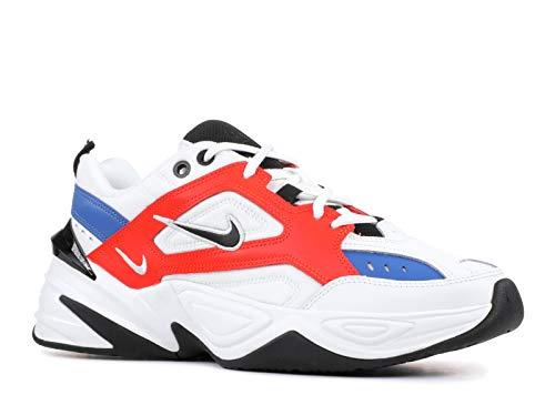 Nike Women's W M2k Tekno Low Top Sneakers, Multicolour (Summit WhiteBlackTeam Orange 001), 8.5 UK