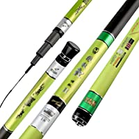 CASSO 新高校のカーボン釣り竿超軽量スーパー困難な釣り竿 釣り竿の回転釣り竿 (Color : As shown, Size : 6.3M)