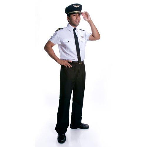 Déguisement de pilote d'adulte de luxe de Dress Up America