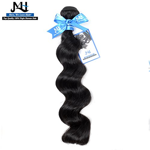 """JVH Unprocessed Brazilian Virgin Hair Loose Wave 1 Bundle Virgin Human Hair Extensions Natural Color Can Be Dyed and Bleached (30"""")"""