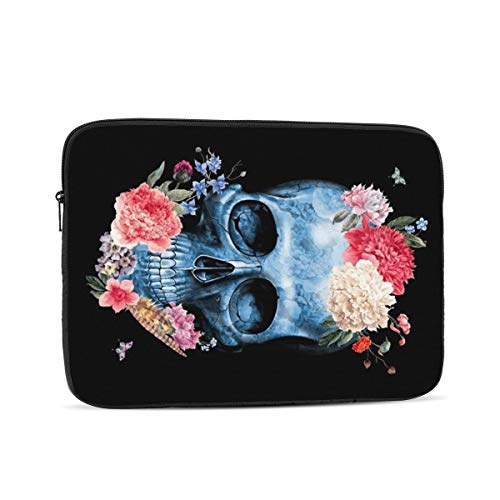 NYIVBE Skull Butterfly Flowers.Webp Laptop Case is Compatible with 10 Inch, 12 Inch, 13 Inch, 15 Inch, 17 Inch MacBook/Tablet/Laptop Unisex Portable Laptop Bag
