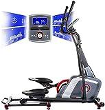 HAMMER Ellipsentrainer Speed-Motion BT, leises Trainingsgerät mit Bluetooth & App-Steuerung, Smartphone- und Tablethalterung, Cardiogerät mit Handpulssensoren, 22 Programme, 163 x 53 x 164 cm
