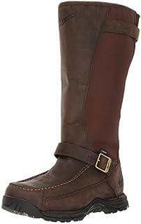 حذاء Danner برقبة طويلة للرجال بنمط ثعبان، بطول 43.18 سم، بني داكن