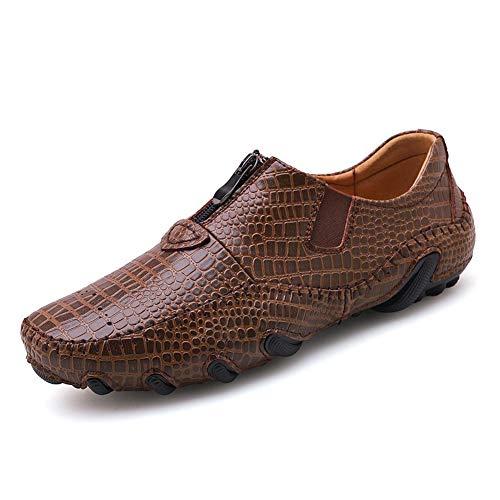 TAZAN de bootschoenen van mannen, die krokodillenschoenen rijden, de ritssluiting schuiven, luchen in vrije tijd wandelen, om de lage te helpen om de vlakke ademende slijtage maat 38-47