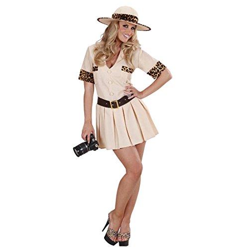 NET TOYS Sexy Safari Disfraz Jungla para mujer Disfraz Investigadores Jungla Disfraz Wildnis Safari Disfraz franja Finder África vestido URWALD Entdecker Carnaval Disfraz Disfraces Mujer