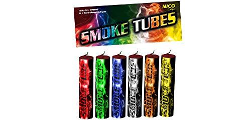 Nico 6X Smoke Tube Rauchfackeln Rauchbomben Rauchgenerator Raucherzeuger Rauchtopf (Mixed)