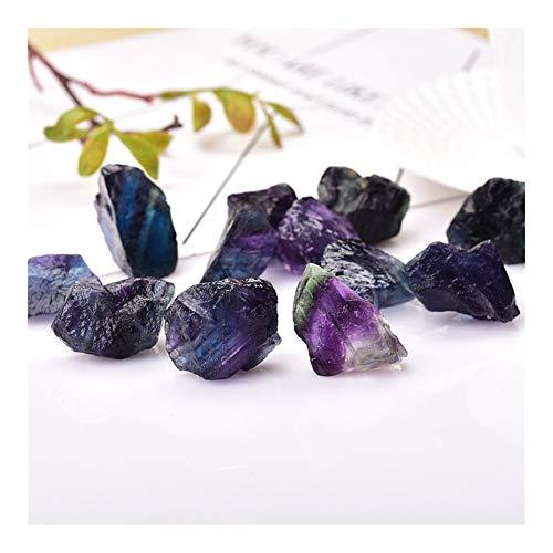 CGGA Natürliche Bunte Fluorit-Kristallsteinheil Quarz Erzmineral for Energie-Stein Fluorit Ornaments Felsen Specimen DIY Geschenk (Size : 1PC)
