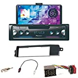 Pioneer SPH-10BT Autoradio Bluetooth MP3 USB 1-DIN FLAC Spotify Equalizer Einbauset für BMW 3er E46