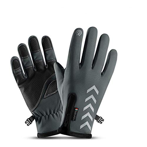 Winter-Reithandschuhe, winddicht, Outdoor, Sport, Ski, Fahrrad, Roller, Motorrad, warme Handschuhe Gr. XXL, Modell 5 Grau.