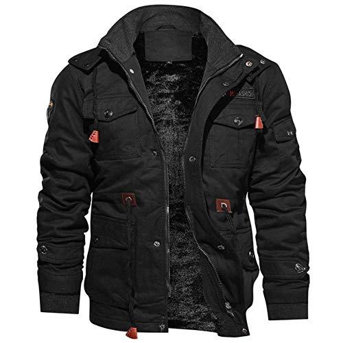 Winter Parkas Mens Casual Dicke Warme Jacke Mens Outwear Fleece Mit Kapuze Multi-Pocket Tactical Military Jacken Overcoat