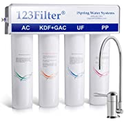 iSpring CU-A4 4-Stage High Capacity Premium Under Sink Drinking Water System with 0.1 micron Ultra Filtration membrane