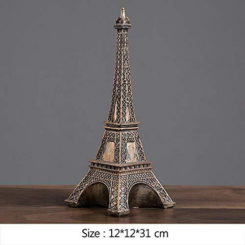 ZAQWSXCDE Skulptur Figur Tier Skulptur Dekofigur Freiheitsstatue Miniaturmodell Paris Tower Empire State Building Kunstskulptur Für Home Decoration Geburtstagsgeschenke