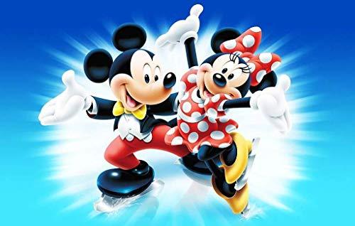 Mickey, Minnie Mouse Tortenaufleger, Rechteckig A4 - Geburtstag Tortenbild Zuckerbild Tortenplatte Oblate Kuchenzuckerplatte