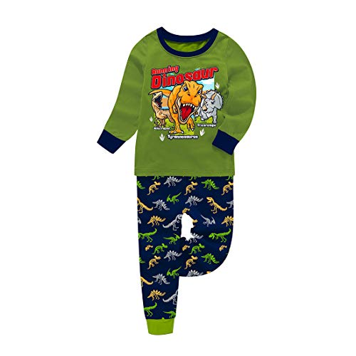 Pijama de dinosaurio para Navidad y niños pequeños con dibujos animados...