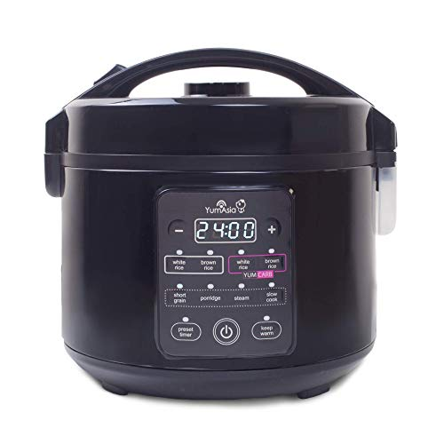 Yum Asia Kumo YumCarb Rice Cooker with Ceramic Bowl and Advanced Fuzzy...