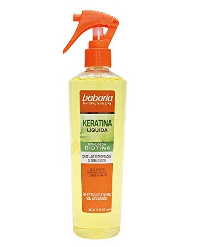 Babaria Natural Hair Line - Keratina Líquida reforzado con biotina - sin aclarado para cabellos estropeados, Multicolor - 300 ml