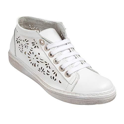 CHACAL Shoes - Botines de Mujer de Cuero - máximo Confort - Botines Casual de Cuero 100% - Botines Deportivos de Piel picada - EU 36 a EU 41