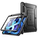SupCase Funda iPad Air 4 10.9 Inch (2020) [Unicorn Beetle Pro Series] 360 Carcasa Completa con Soporte para Carga de Lápiz de Apple Y Protector de Pantalla Incorporado (Negro)
