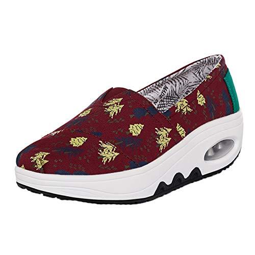Zapatos de Plataforma para Mujer Zapatos Casuales sin Cordon