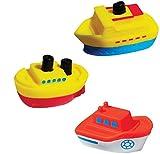 HEITECH LED Badespielzeug für Baby & Kinder - Schiff Badetiere leuchtend im 3er Pack - Leuchtendes & schwimmendes Badewanne Spielzeug, Badewannen Wasserspielzeug, Badewannenspielzeug Wasser