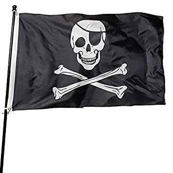 DANF FLAG 1 Pack Pirate Flag Skull and Crossbones Jolly Roger 3 by 5 FT Polyester Flag Banner