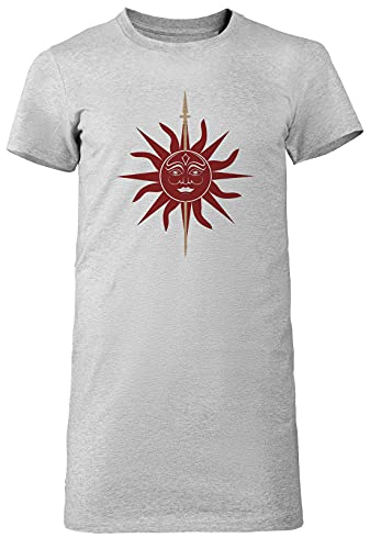Casa Martell Mujer Camiseta Larga tee Gris Women's Grey T-Shirt Long