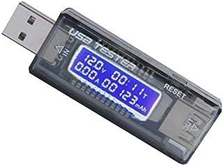 جهاز كشف USB لقدرة البطارية وقياس الجهد الكهربائي ومسبار قياس التيار الكهربائي وشاحن USB 3 في 1 للموبايل
