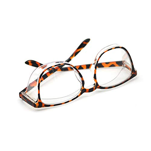 Safety Glasses Anti Fog for Men Womens Blue Light Blocking Eye Protection Goggles with Side Shields Square Leopard