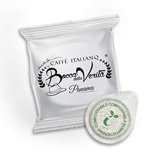 Italian Coffee Bocca Della Verità Cialde Monorigine Panama - 100 Units Pack - Compatible ESE dm 44 mm