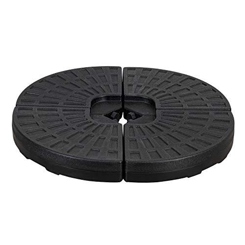 Amazon Basics HDPE Round Fan-Shaped Hanging Umbrella Base for Patio – Black