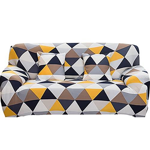 WXQY Funda de sofá elástica elástica Funda de sofá de Esquina en Forma de L Funda Protectora de sofá de Licra Funda Protectora de Polvo Funda de sofá A6 2 plazas