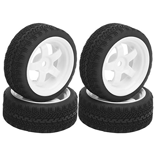Semiter Neumático RC, neumático de Goma RC Accesorio de actualización de Rueda...