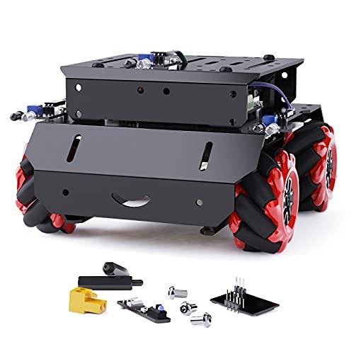 메이크 블록 MBOT 메가 로봇 키트 RASPBERRY PI와 호환되는 ARDUINO IDE 로봇 및 전자 제품 교육용 건물 빌딩 스템 장난감과 함께 RASPBERRY PI 코딩 | 프로그래밍 금속 로봇 자동차