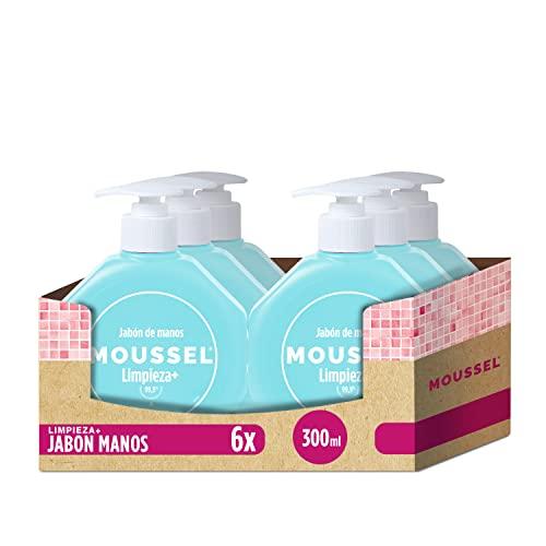 Moussel Jabón de Manos Limpieza+ 300ml - Pack de 6
