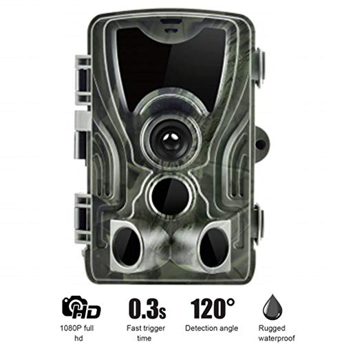 LHYAN Cámara de senderos, cámara de Vida Silvestre de 16MP con cámara de Juego a Prueba de Agua de la visión Nocturna para la Caza de Ciervos Monitoreo de la Vida Silvestre al Aire Libre