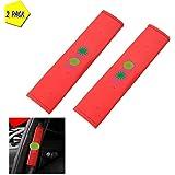 スバルアウトバックフォレスターXVレガシーBRZ用シートベルトカバーカーシートベルトショルダーストラップ快適で通気性のショルダーパッドクッションなど 818 (Color : Red)