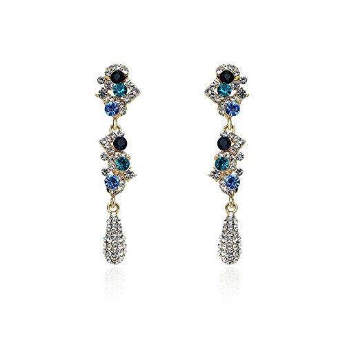 AdorabFitting-Ear Orecchini orecchino Pendiente pendenti Gioielli Moda lunga sezione nappe diamanti colorati Europa e America popolare